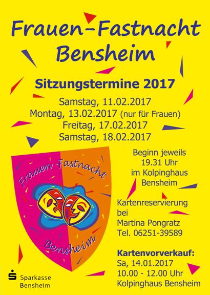 Weitere Informationen zum Vorverkauf und Kartenreservierung Frauenfastnacht Kampagne 2016/2017